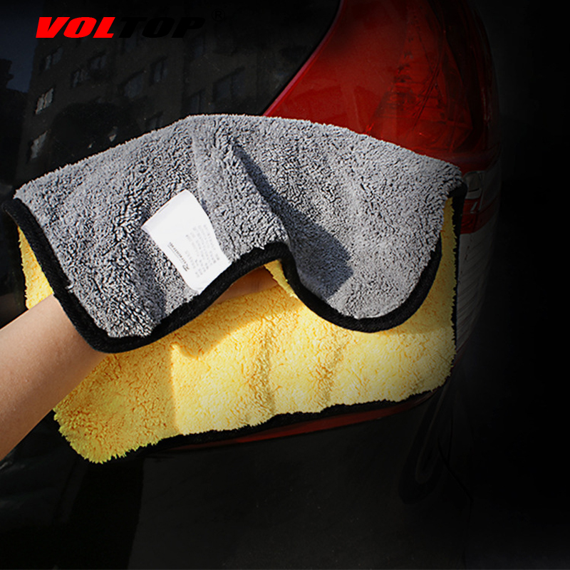 Image 5 - 30x30cm Thicker Car Wash Cloths Cleaning Tool Car Accessories Super Absorp Water Microfiber Towel Universal Auto Home Office-in Sponges, Cloths & Brushes from Automobiles & Motorcycles