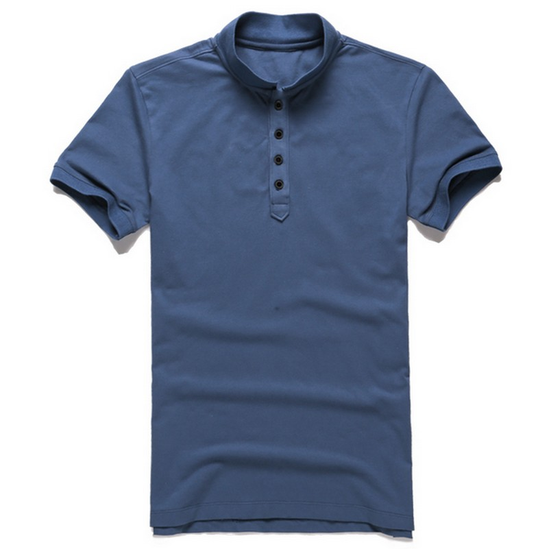 Summer Cotton Elastic Men's Slim Fit   Polo   Shirt Solid Color Plus Size Male   Polo   Loose Leisure Camisa   Polo