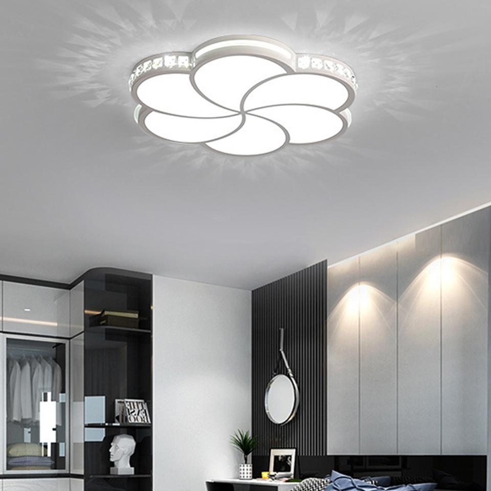 YooE LED Ceiling Light Modern Lamp Living Room Lighting Fixture Bedroom Surface Mount Flush Panel Remote