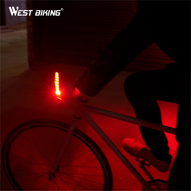WEST BIKING Bike Handlebar Grips Light Bike Led Wheel Spoke Bicycle Lights Cycling Lamp of Grip The Deputy Horns Warning Lights