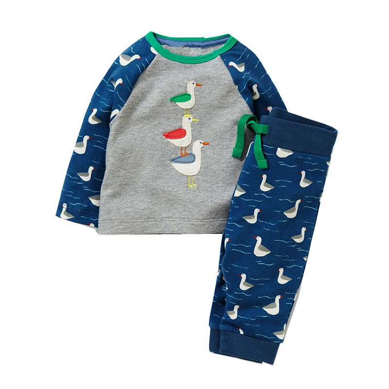 Kidsalon Children Clothing Sets Boys Clothes Kids Back to School Outfit Baby Boy Clothing Tracksuit with Animal Applique 2-7T