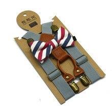 Детский Свадебный комплект для маленьких мальчиков, подтяжки и роскошный галстук-бабочка, блейзер, костюм, аксессуары SD