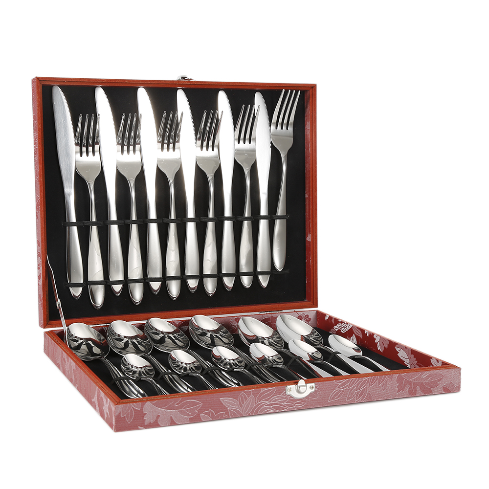 24Pcs/set Stainless Steel Dinnerware Sets Knife Fork Set Gold Cutlery Set With Gift Box Flatware Set HWC24Pcs/set Stainless Steel Dinnerware Sets Knife Fork Set Gold Cutlery Set With Gift Box Flatware Set HWC