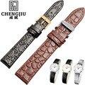 Croc Alligator Grain Genuine Leather Strap 12 13 14 18 20 mm Watch Bands Bracelet Strap For Longines Pulseira Cinturini Orologi