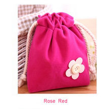 Lovely Flowers Rose Red Drawstring Pouch Travel  Bag Admission package 1x