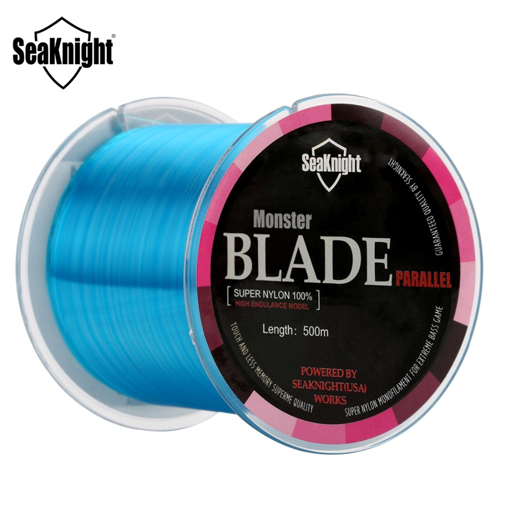 Seaknight Nylon Fishing Line 500M BLADE 2 to 35LB High Quality Monofilament 0.105-0.500mm Lines Carp Fishing Saltwater/Saltwater