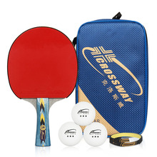 все цены на Crossway Professional 4-Star Table Tennis Racket + Case + Ball Horizontal Grip Pimples-in Rubber Ping Pong Table Tennis Blades  онлайн