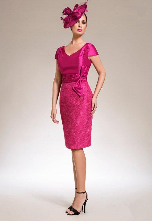new style & luxury high fashion save up to 80% Sexy Lace Fuschia Mother of the Bride Jacket Dresses Knee ...