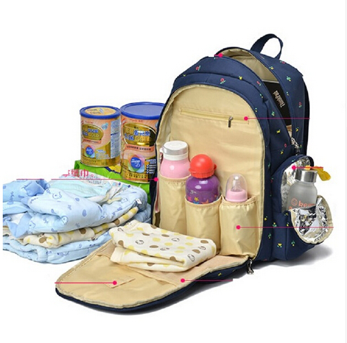 7 colors 2016 functional maternity backpack baby diaper bags nappy changing b. Black Bedroom Furniture Sets. Home Design Ideas