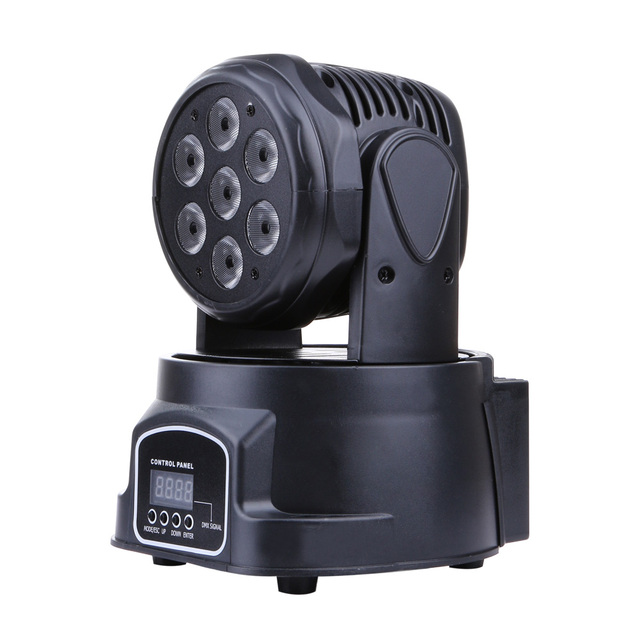 Colorful 100-240V AC 7x20W 4-in-1 RGBW LED Moving Head Light DMX512 DJ Stage Light Pofessional Club Party Stage Lighting Lamp