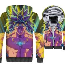 3D Printing brand clothes 2019 men thick swag coats Dragon Ball jackets male harajuku hoody winter super Saiyan Anime sweatshirt