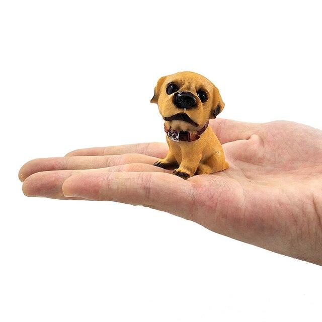 1pc Famous Dogs Model puppy Status Home Office Car ornament Decor Cartoon Figurines People Animal statue resin craft TNJ016 6