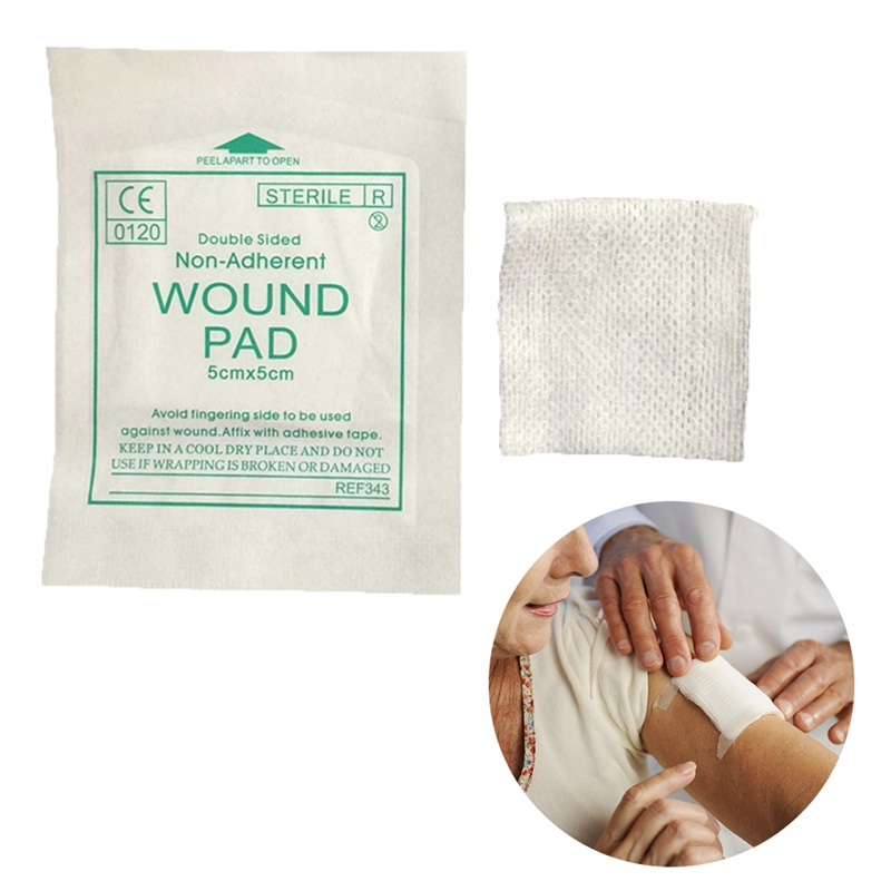 New 10 Pcs/lot Gauze Pad 100%  Cotton First Aid Waterproof  Wound Dressing  Sterile  Gauze  Pad Wound Care Supplies