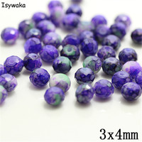Isywaka 3X4mm 30,000pcs Rondelle Austria faceted Crystal Glass Beads Loose Spacer Round Beads Jewelry Making NO.63
