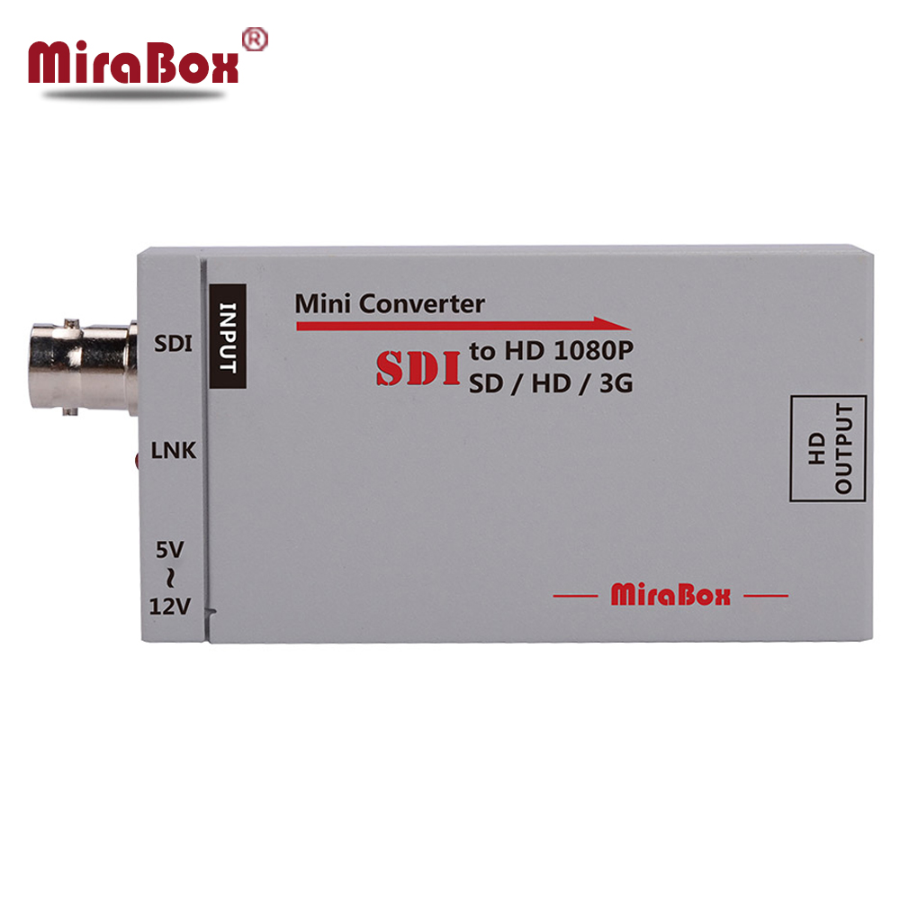 Mirabox SDI to HDMI Mini Adapter SD/HD/3G SDI to HDMI BNC Support Full HD 1080p Mini SDI Signal to HDMI HD Video Converter mini 3g 1080p hdmi to sdi sd sdi hd sdi 3g sdi hd video converter with power adapter in retail package free shipping