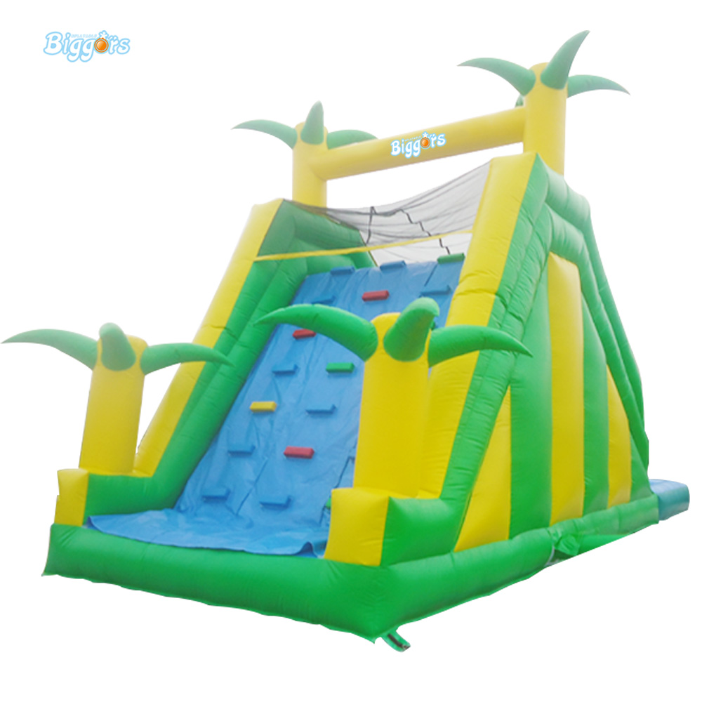 Jungle Commercial Inflatable Slide with Water Pool for Adults and Kids commercial inflatable water slide with pool made of pvc tarpaulin from guangzhou inflatable manufacturer