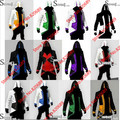 Free shipping Assassins 3 III Conner Kenway Hoodie Creed Coat Jacket  Assassin's  Cosplay Costume Anime Overcoat