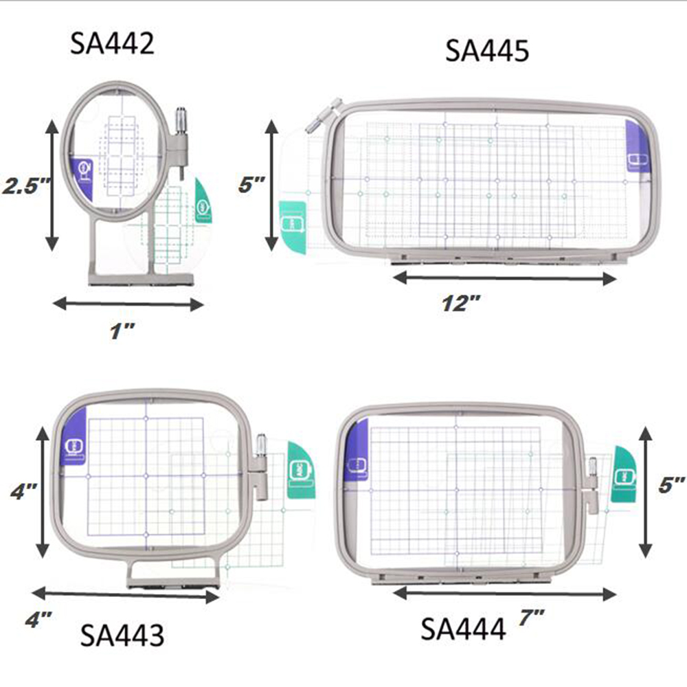 Sew Tech Embroidery Hoops For Brother Embroidery Machine Frames Set Innov-is 1250 700 PE700 PE700II PE770 PE800 780D PC Babylock