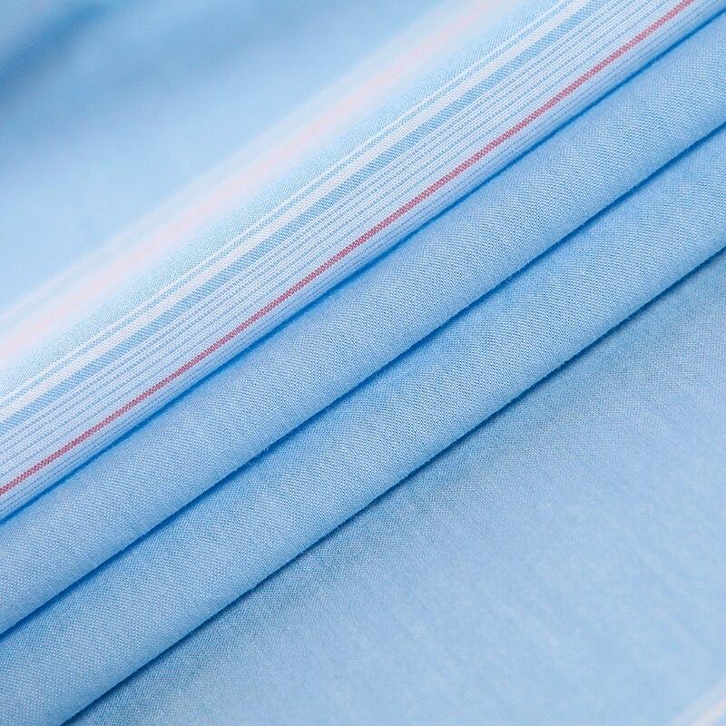 Langmeng Brand Formal Dress Shirts New Fashion High Quality 100% Cotton Short Sleeve Casual Shirt Men Slim Fit Design