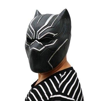Più nuovo Solido 3D Black Panther Maschere Movie Fantastic Four Cosplay Del Partito degli uomini Cosplay Maschera In Lattice Per Halloween Trasporto di Goccia