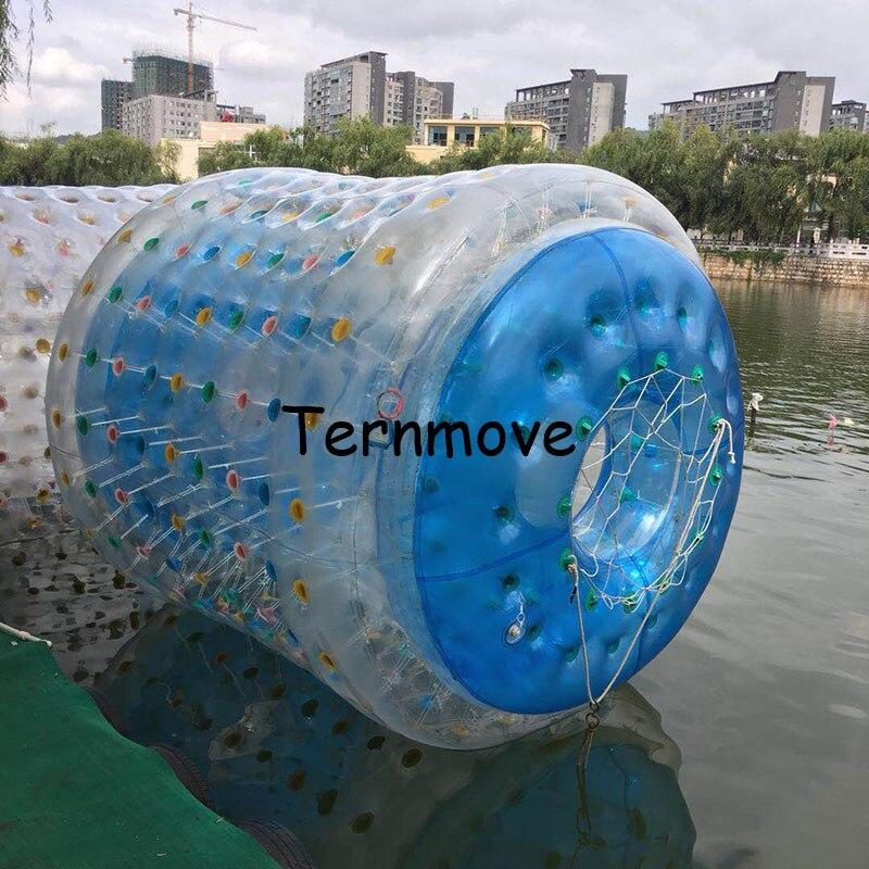 Rouleau gonflable bleu de patins à roulettes de l'eau, Tube de boule de marche de l'eau à vendre boule de roulement de marche de l'eau