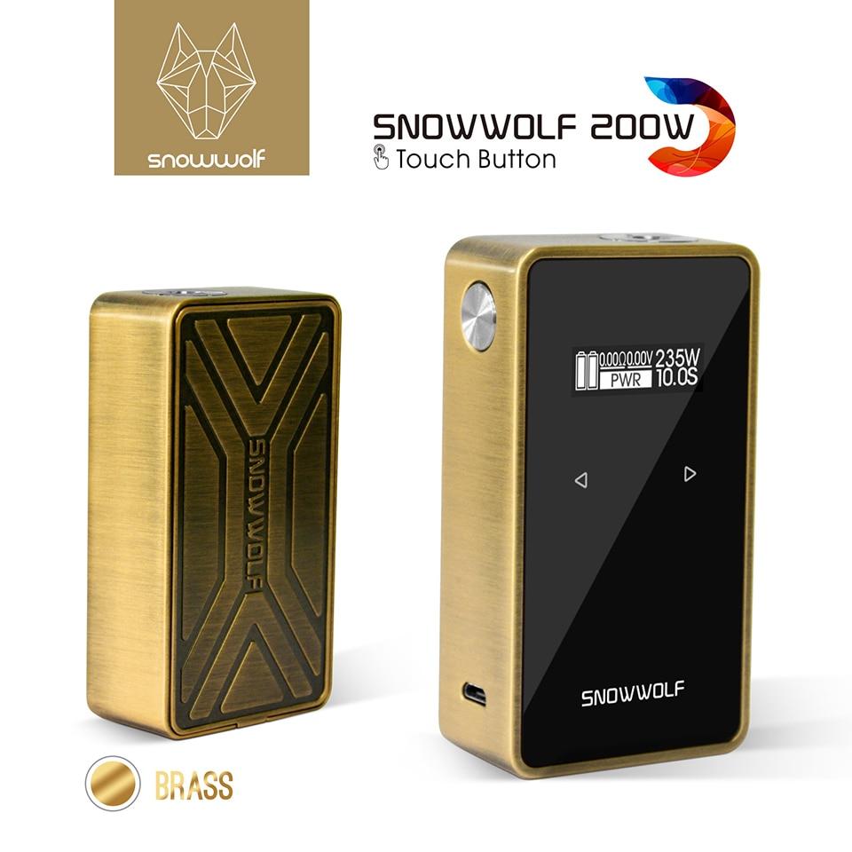 Original Snowwolf 200w C Box Mod 235W TC E cigarette Vape Mod with 0 91 inch