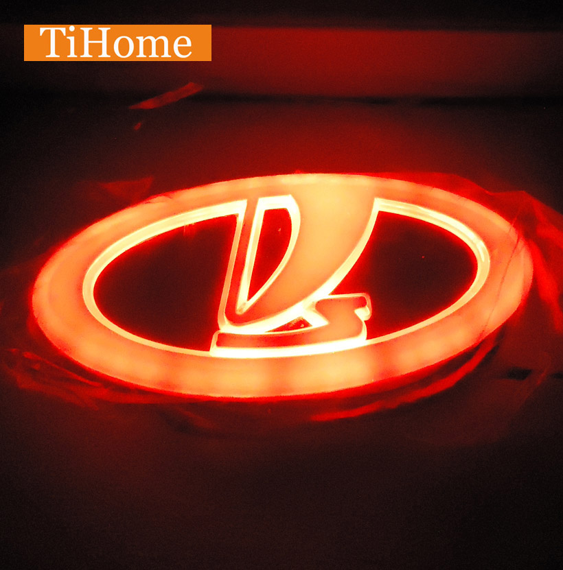 Free Shipping to Russia 4D LED Car LOGO Light Lamp 4D LED car badge light for