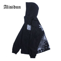 Mens Hooded Jacket Drop Shipping Casual Men Cannabi S Print Jogger Thin Coat Male Brand Outerwear