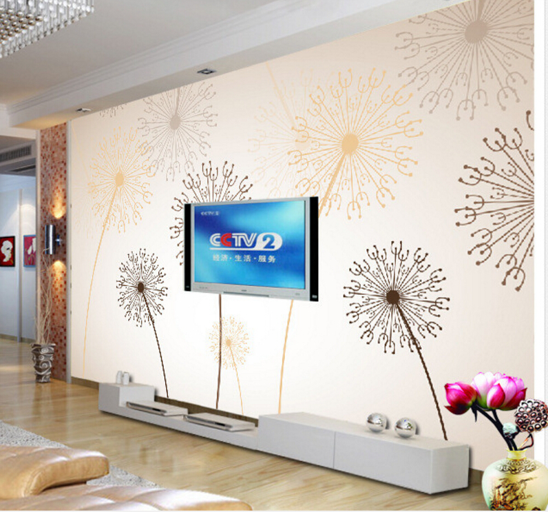 Custom children wallpaper,Dandelion,3D stereoscopic wallpaper for children's room living room wall papel de parede black dandelion wall sticker wallpaper page 3