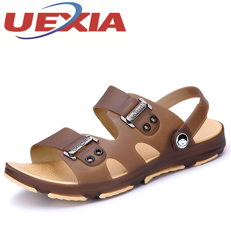 Men Casual Sandals Summer Mens Slippers Beach Shoes Outdoor Fashion Breathable Home Slippers Men Water Shoes Flip-Flop Size 45