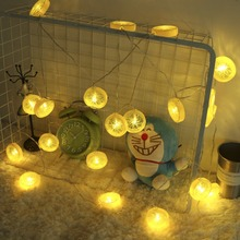 JUNJUE Warm White Novelty Lemon Shape Holiday String Light LED Christmas Party Baby Bedroom Decoration Outdoor Lighting Lamps