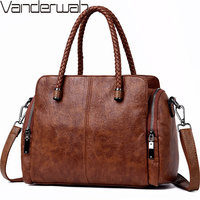 New Two side pocket Casual Tote Bag Designer Handbags High Quality Leather Luxury Crossbody Bags For Women 2018 Sac A Main Femme