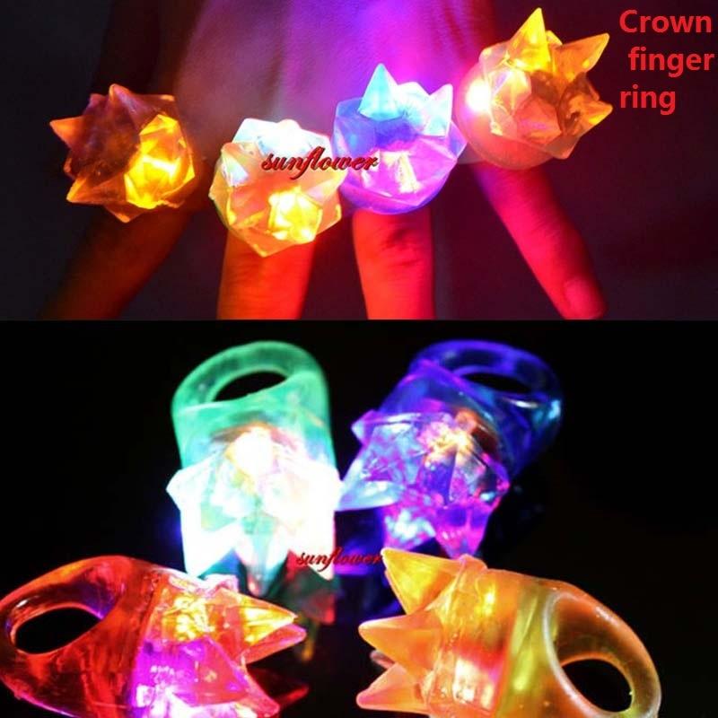 2017 women girl boy boy men light up crown jelly rings for Tap tap fish light jellyfish