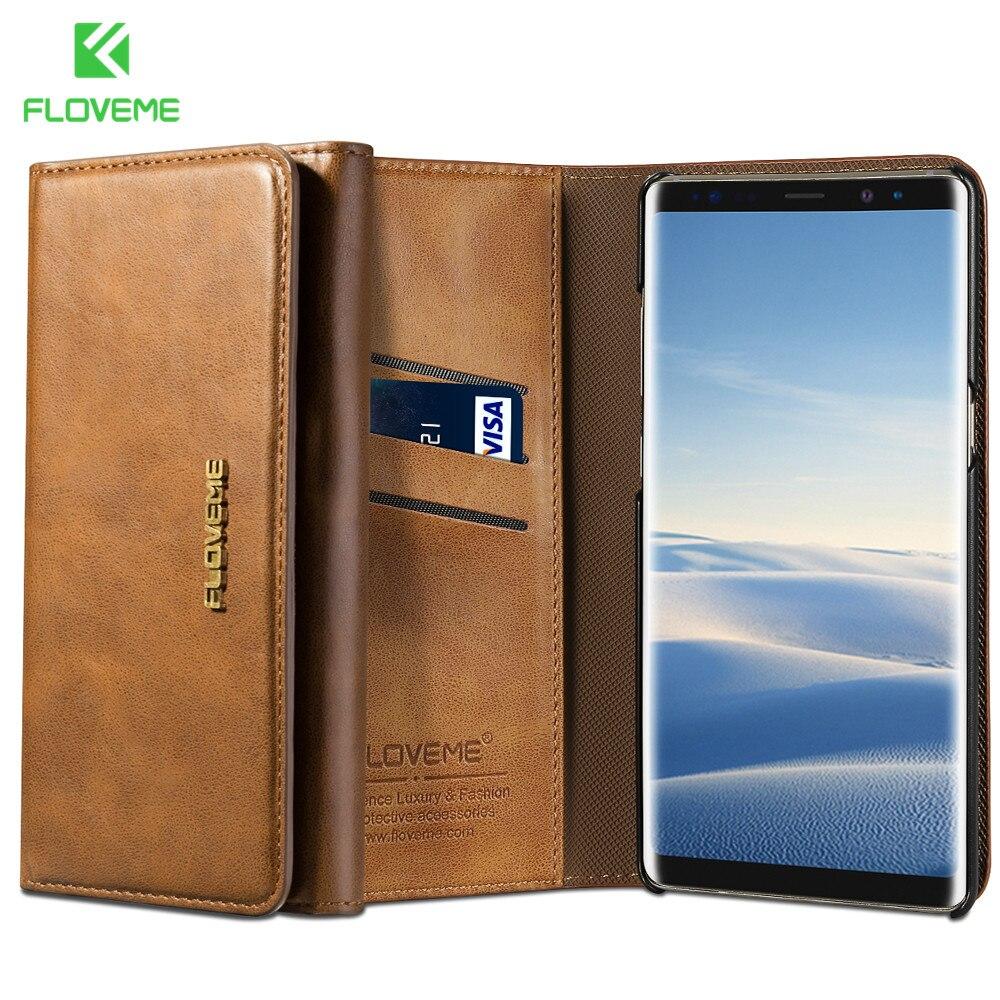 FLOVEME Leder Telefonkasten für Samsung Galaxy S8 S8 plus Note8 Luxuxmappen Fall für Samsung Galaxy S7 S7 rand Retro Abdeckung Capa
