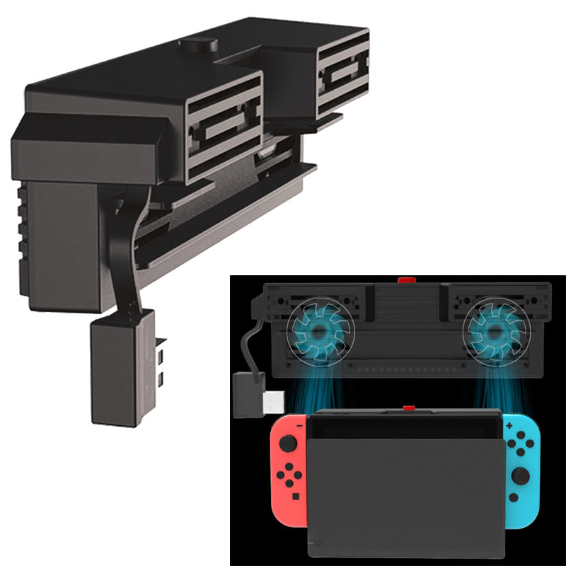 Nintend Switch 5000RPM Cooling Fan 2 Fans External USB Power Super Turbo Temperature Cooler Fan For Nintendo Switch NS Console