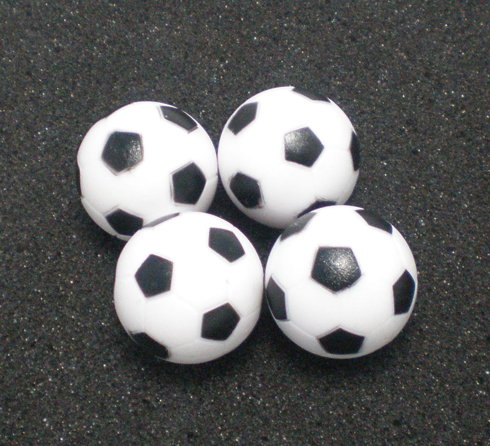 Free Shipping 4pcs/lot NEW 32mm BLACK&WHITE Foosball Table Soccer Table Ball Football Balls Baby Foot Fussball 04