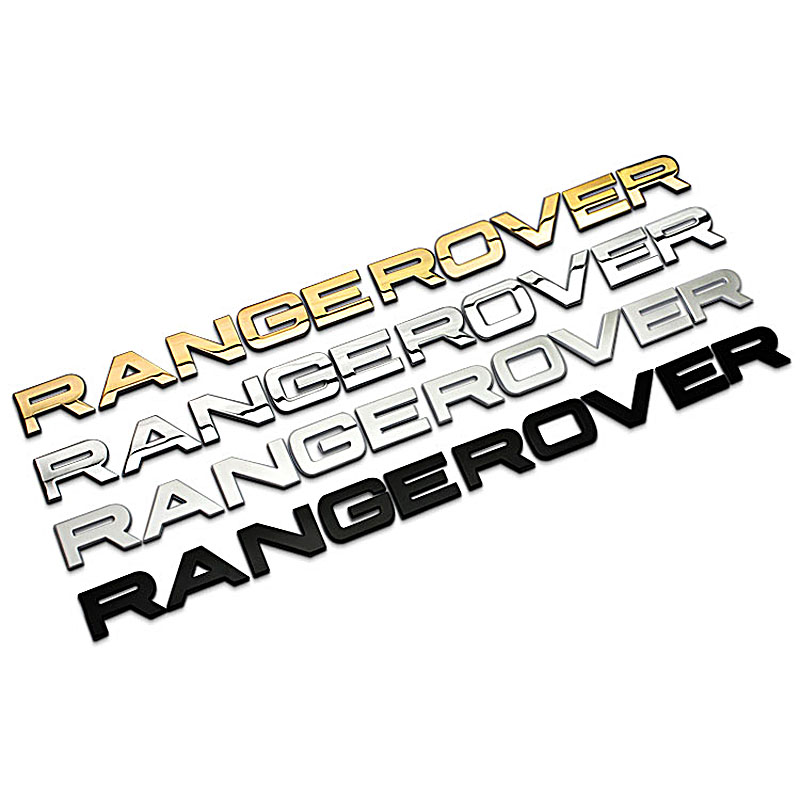 High Quality RANGE ROVER 3D Letters Stickers for Land Rover Hood Trunk Tailgate Emblem Badge Nameplate New