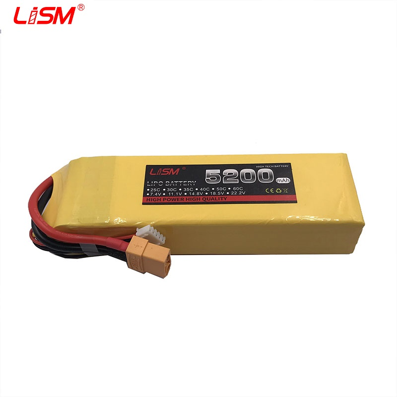<font><b>14.8V</b></font> <font><b>5200mah</b></font> 40C 4S battery Lipo Li-Po Battery 4S charging suppot For RC Airplanes boats Cars Quadcopters rc car parts#25y90 image