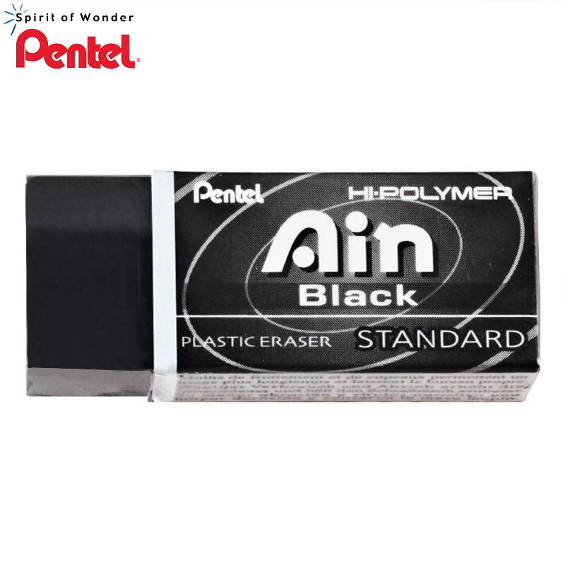 2018 Pentel ZEAH06 Black Eraser Graphic Design Professional Eraser Ain Series Hi Polimer Plastic Pencil Eraser Super Clean