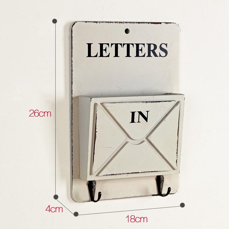 Vintage brief houten kist muur opknoping opslag haak Hanger Retro - Home opslag en organisatie - Foto 5