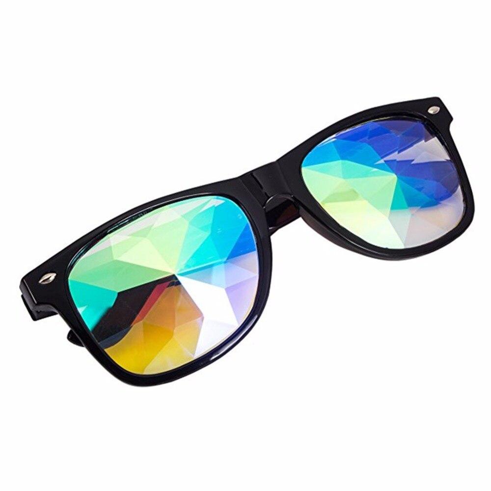 For Music Festivals Led Light Shows Edm 10pcs Wholesale Black/red/white Kaleidoscope Glasses Rainbow Prism