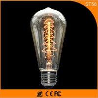 50 шт. Винтаж Дизайн Эдисон накаливания E27 светодиодные лампы, ST64 40 Вт энергосберегающих украшение лампы заменить лампы накаливания AC220V