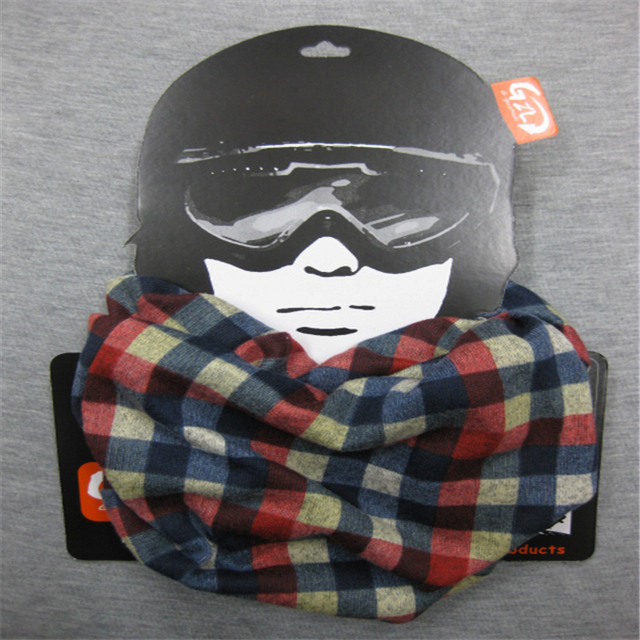Hot Sale Bikecycle Winter Warm Headwear Riding Scarf With 5 Plaid Pattern 15b4ca22c6a