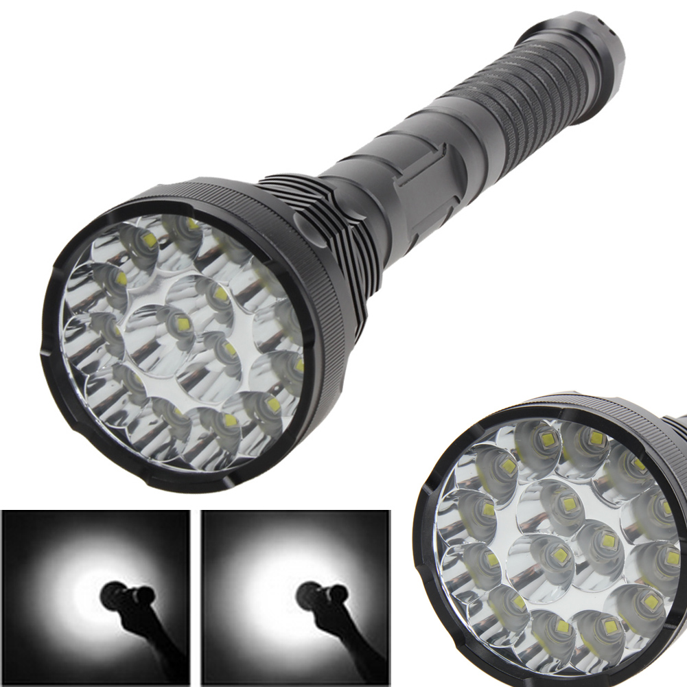 Super Bright 18000Lm 5-Mode XM-L T6 LED Torch 15T6 Flashlight Torch lamp 4X18650 + Charger стоимость
