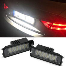 цена на Car Number License Plate Light Exterior Accessories Signal Lamp For VW Golf 4 5 6 7 Polo 6R Passa Scirocco EOS Phaeton CC POLO