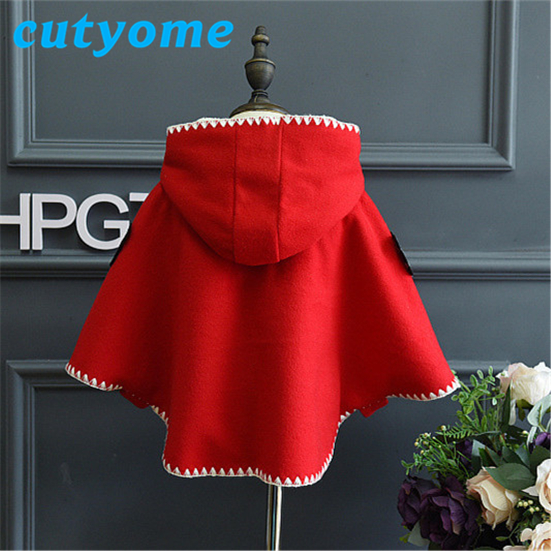 Baby girls hoodies cloak coat toddler kids winter fleece cape poncho cloak childrens christmas outerwear poncho jacket clothing in jackets coats from