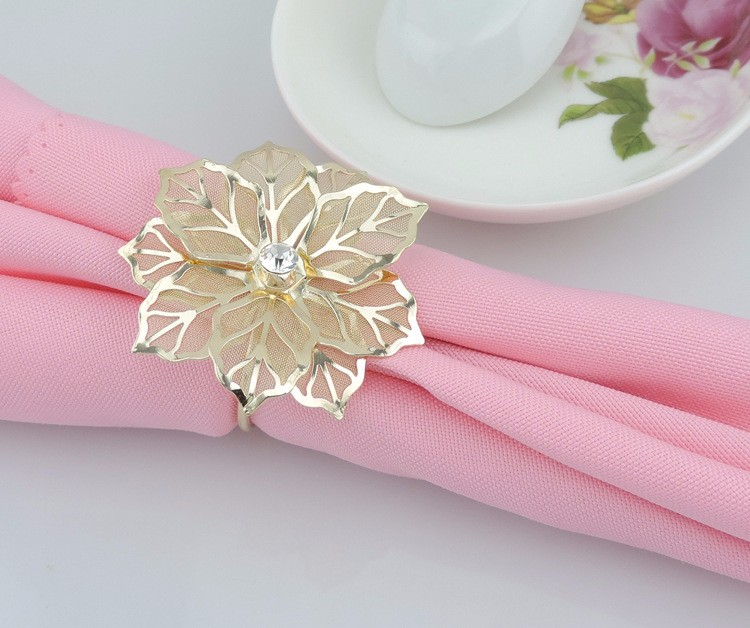 10pcs/lot Exquisite High-end Hotel Restaurant Dedicated Napkin Ring Mouth Cloth Napkin Ring Napkin Ring Seat Ring