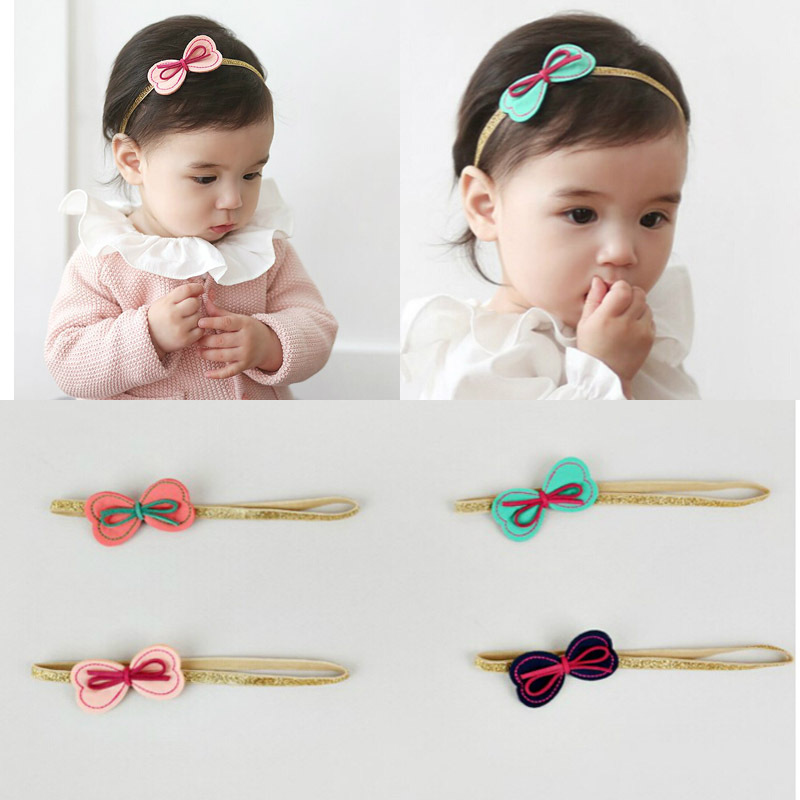 Lovely Bow 4 Colors Girls Headbands Newborn Infant Hair Accessories Children Elastic Hair Bands Kids Headwear Baby Headdress free shipping 10pcs lot new adult elastic hair bands women headwear for girls hair rope headbands accessories 14 colors 15cm