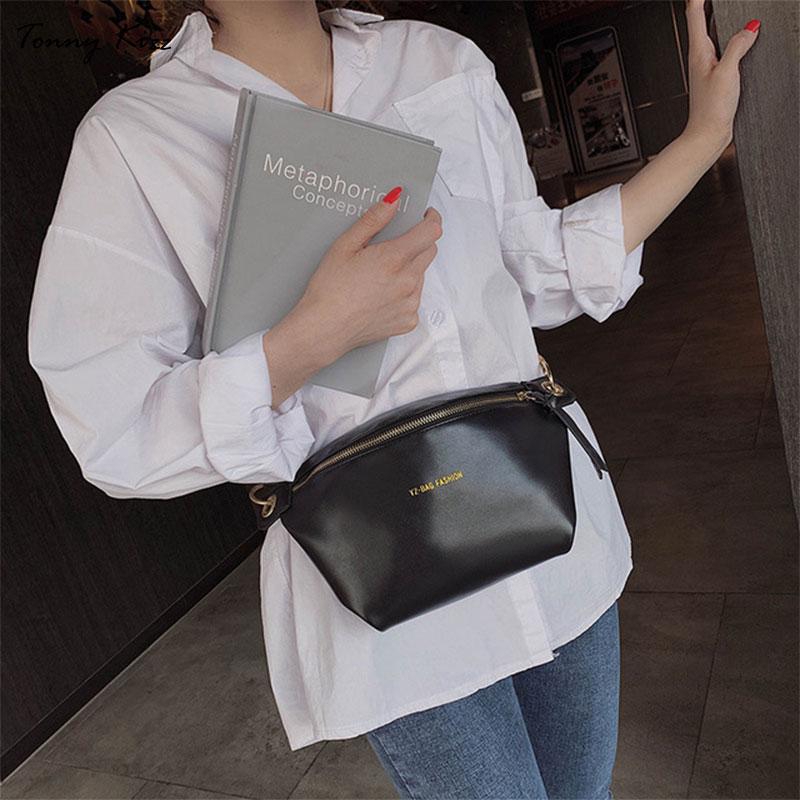 Tonny Kizz Fashion Fanny Pack Green Women Waist Bag Leather Shoulder Crossbody Bag Multifunctional Belt Chest Bags Riñonera