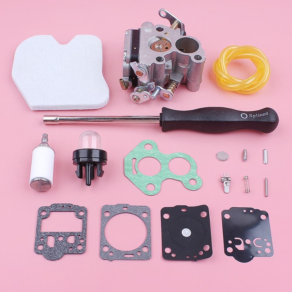 Tools : Carburetor Carb Repair Kit For Husqvarna 235 236 240 235E 240E Air Fuel Filter Line Primer Bulb Gasket Chainsaw Replace Part